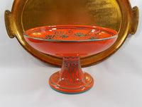 4989-N Vintage MCM Italian Pottery Compote- with gold tray-1713 x 1300.jpg