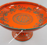4989 Vintage MCM Italian Pottery Compote close up dish view-arrow view-1704  x1649.jpg