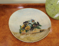 5052 Antique Hand Painted Papier Mache Plate 1880s - on wood chest-3316 x 2565.jpg