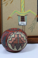 5147 Vintage Santa Clara Pottery Seed Pot Signed Minnie- with sand painting behind-2656 x 3984.jpg