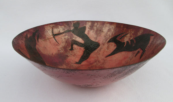 Barbara Culp Enameled Copper 10 Inch Decorative Bowl Full View