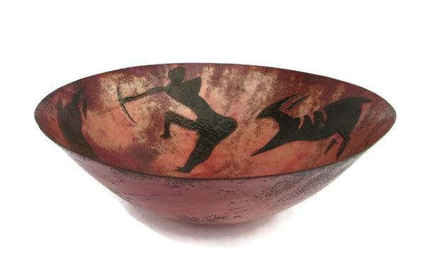 Barbara Culp Enameled Copper 10 Inch Decorative Bowl