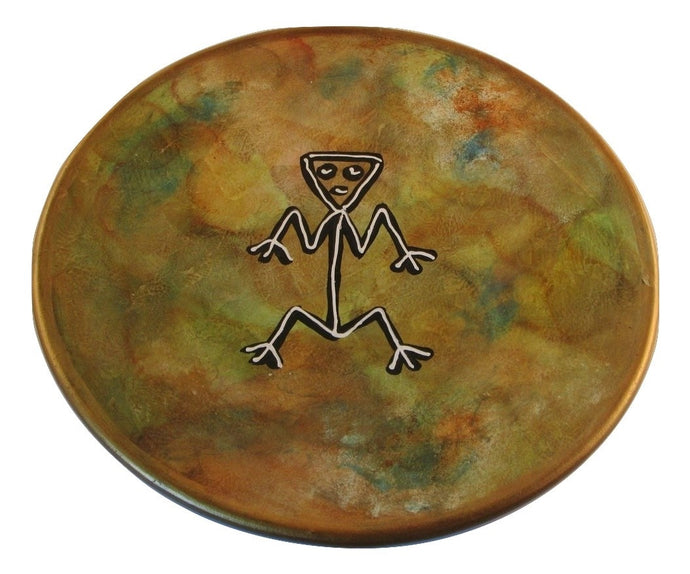 Rock Art (Arte Rupestre) Redware Wall Charger Dominican Republic