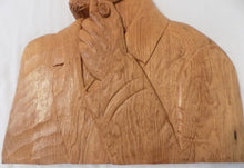St.-Jean-Port-Joli Relief Wood Carving, Huge Plaque by Robert Guay /Quebec, Canada, Hand Carved White Oak, Signed and Dated 1988 Chest and arm view