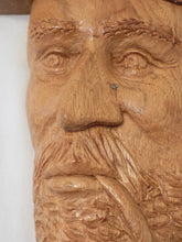 St.-Jean-Port-Joli Relief Wood Carving, Huge Plaque by Robert Guay /Quebec, Canada, Hand Carved White Oak, Signed and Dated 1988 Face close up