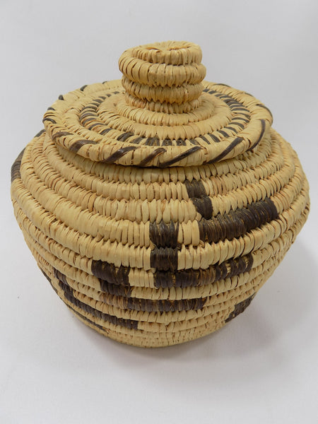 Tohono O'odham (Papago) Basket By Sally Juan Native American Art From Arizona full view