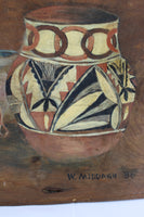 Vintage Wooden Dough Bowl With Painting of Native American Artifacts -signe area-W.Middagh-86-2656 x 3984.jpg