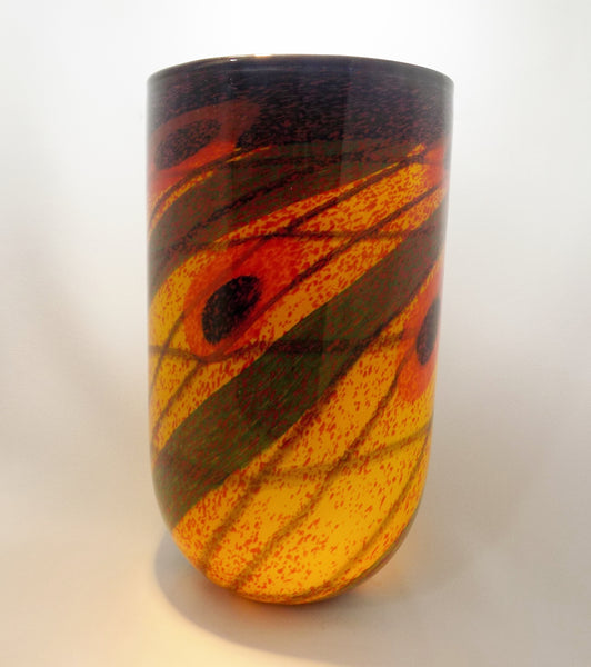Romanian Artist  IOAN NEMTOI Art Glass Vase Side Two