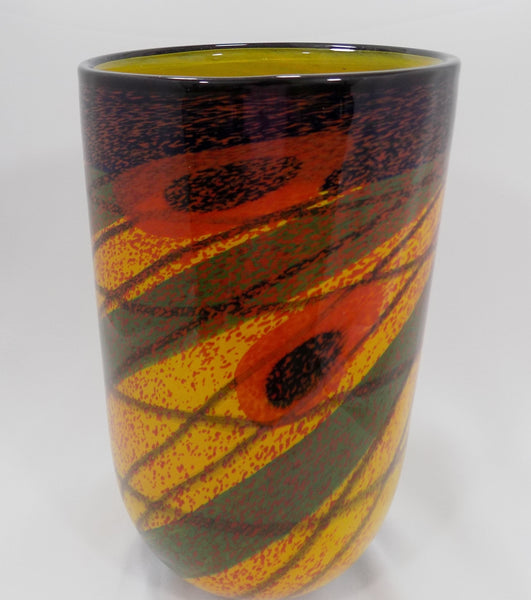 Romanian Artist  IOAN NEMTOI Art Glass Vase main View