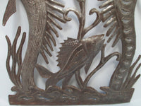 Haitian Steel Drum Art by Vertus Romens Fer Découpé of Mermaids Bottom View