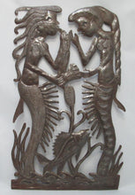 Haitian Steel Drum Art by Vertus Romens Fer Découpé of Mermaids Full View