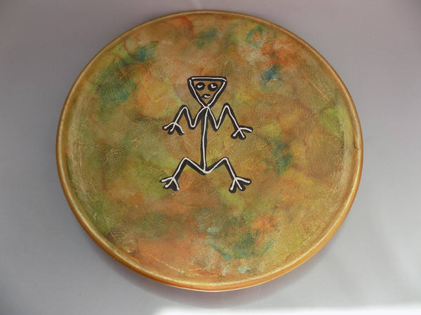 Rock Art (Arte Rupestre) Redware Wall Charger Dominican Republic Full Front View