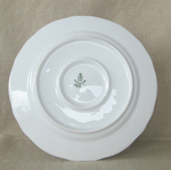 Winterling Bavarian Porcelain Mayo Bowl with Attached Underplate Bottom View