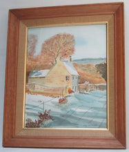"Watercolor by Irish Artist Jim Kavanagh ""Devonshire Cottage"" Full View 2"