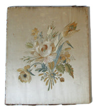 Silk Embroidery in Lemon Gold Leaf & Gesso Period Frame Circa 1840 -1
