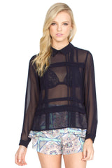 PANEL BACK BLOUSE - HARPER KELLEY  - 1