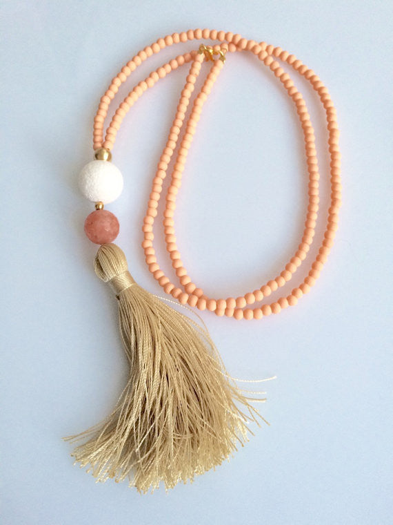 LIZA TASSEL NECKLACE - HARPER KELLEY
