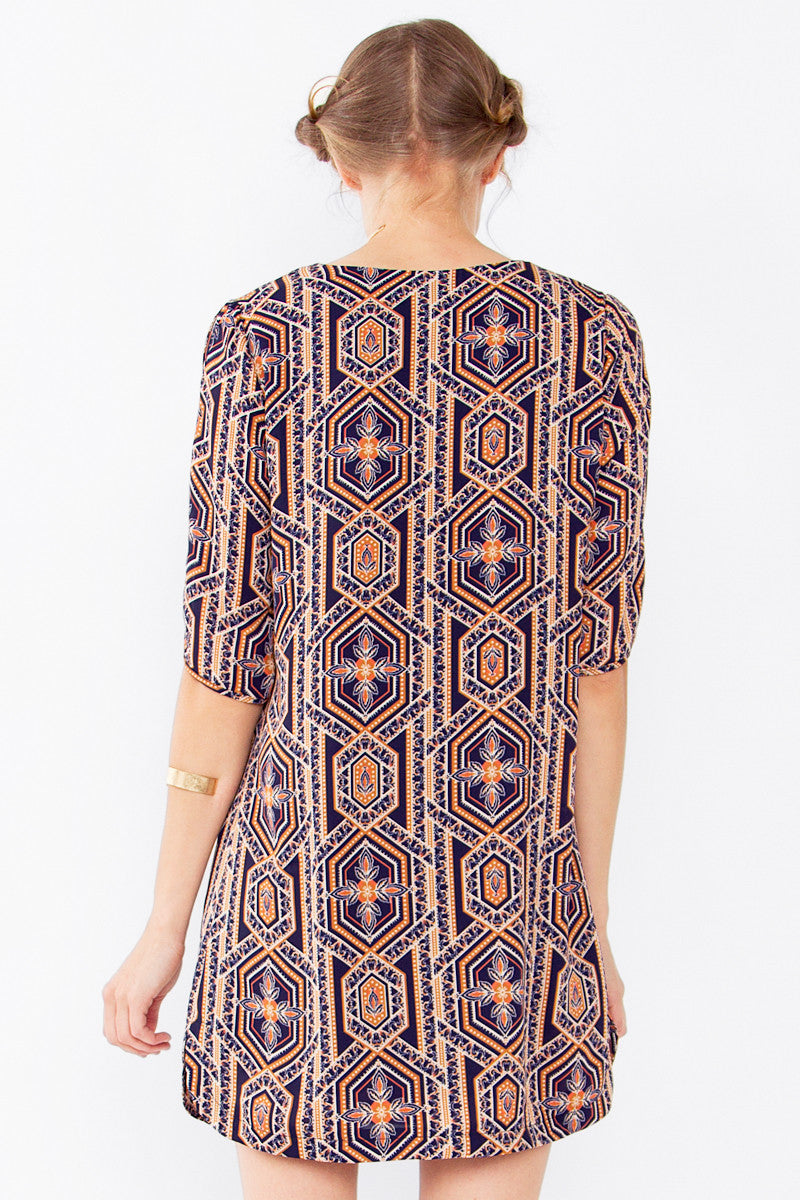 ABSTRACT GEO SHIFT DRESS - HARPER KELLEY  - 3