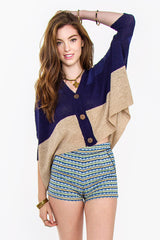 MAYAN CROP CARDIGAN - HARPER KELLEY  - 1