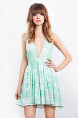 SAVANNAH PLUNGE DRESS - HARPER KELLEY  - 1