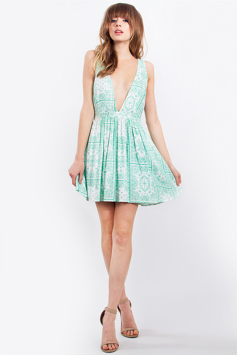 SAVANNAH PLUNGE DRESS - HARPER KELLEY  - 4
