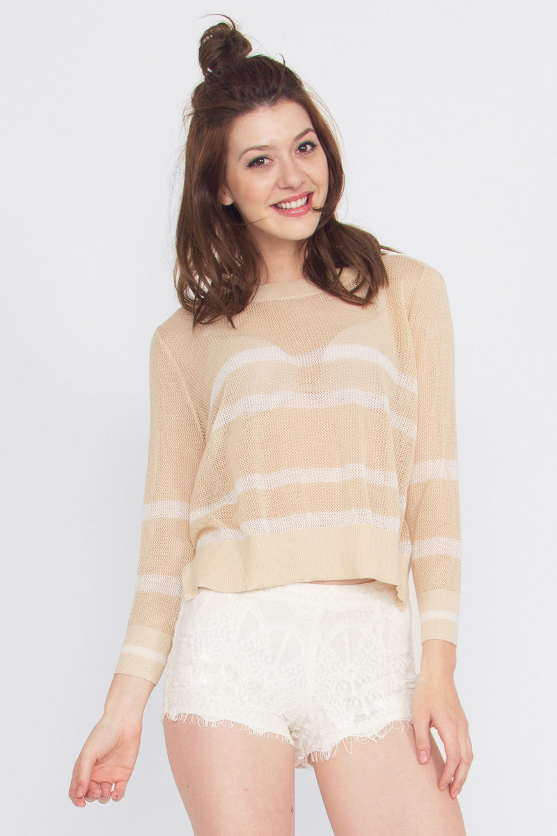 LINE UP CROP KNIT - HARPER KELLEY  - 1