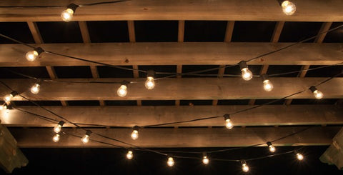 LED Edison bulbs for outdoor string lights