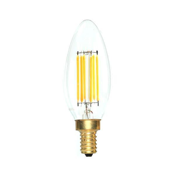 LED Candelabra Bulb 60W Equivalent Warm White 2700K Dimmable Blunt Tip