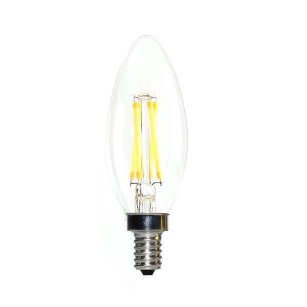 LED Candelabra Bulb 40W Equivalent Warm White 2700K Dimmable Blunt Tip