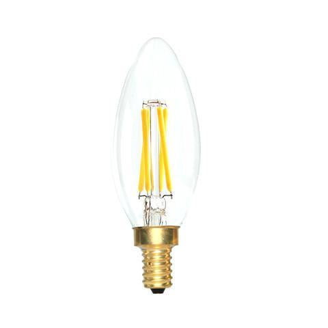 LED Candelabra Bulb 40W Equivalent Warm White 2200K Dimmable Blunt Tip