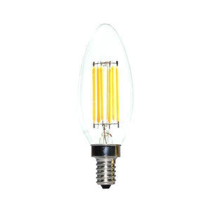 LED Candelabra Bulb 60W Equivalent Warm White 2200K Dimmable Blunt Tip
