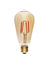 Edison Mills LED ST64 Antique LED Filament Bulb 3W, 40 Watt Equal, 2200K, Dimmable, Pack of 6