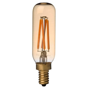 mini LED Radio T8 Antique LED Filament Bulb 2W, 40 Watt Equal, e12 Candelabra, 2200K Warm White, Dimmable