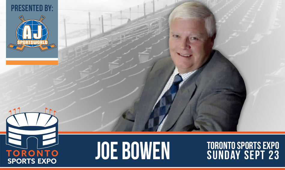 Joe Bowen - A.J. Sports World - Toronto Sports Expo Signing
