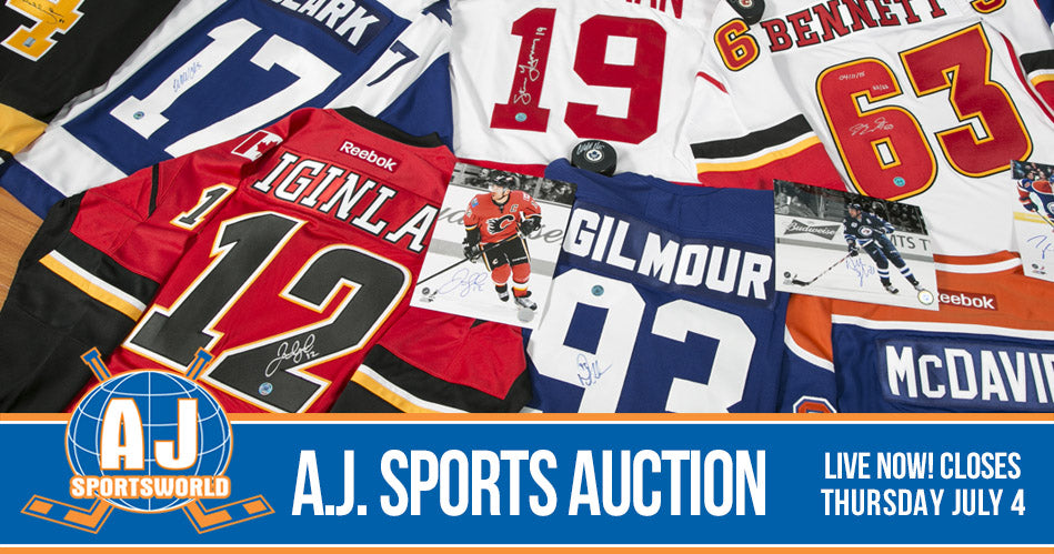 0d3fb2fc480 A.J. Sports World | Memorabilia, Celebrity Bookings, Framing, Sewing