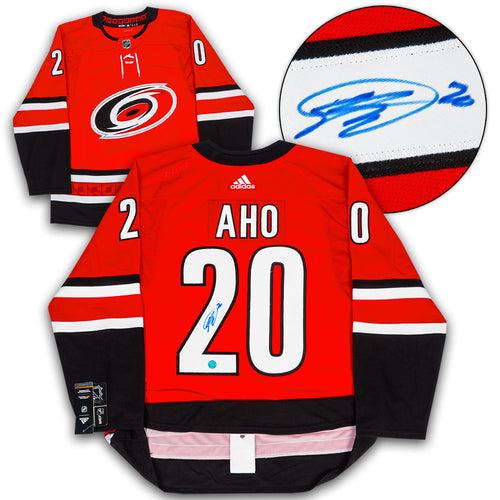 Sebastian Aho Carolina Hurricanes Autographed Adidas Authentic Hockey Jersey