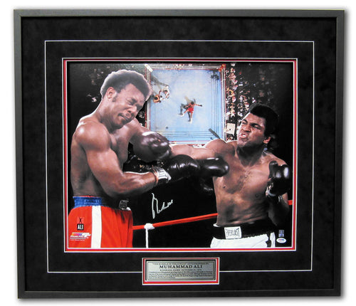 Muhammad Ali Autographed Rumble In The Jungle 3d Boxing 33x30 Frame: Ali COA