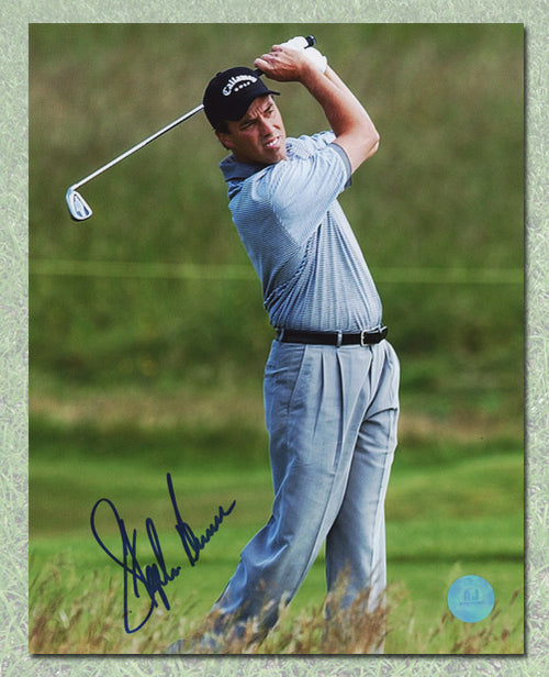 Stephen Ames Autographed PGA Golf Swing 8x10 Photo