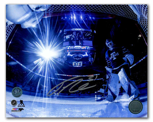 Frederik Andersen Toronto Arenas Signed Maple Leafs Net Cam Intro 8x10 Photo