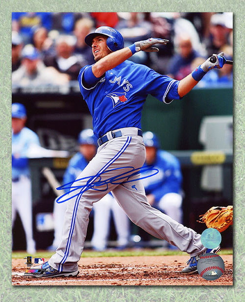 J.P. Arencibia Toronto Blue Jays Autographed Batting Swing 8x10 Photo