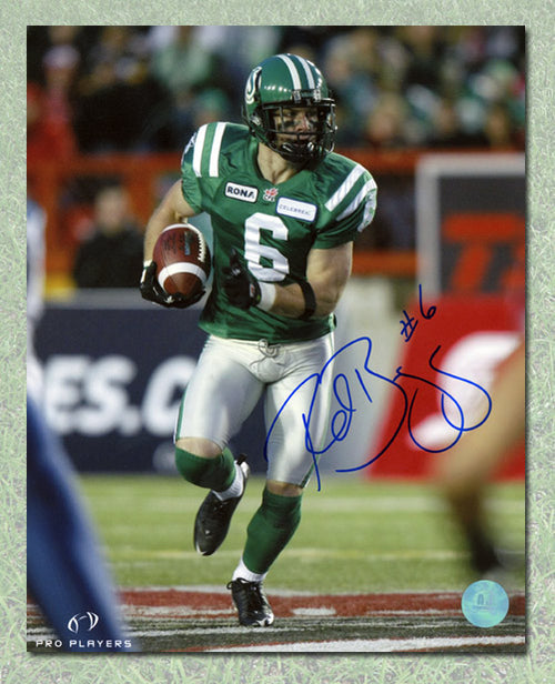 Rob Bagg Saskatchewan Roughriders Autographed CFL 8x10 Photo