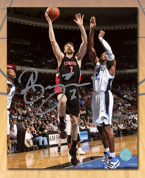 Andrea Bargnani Toronto Raptors Autographed Lay Up 8x10 Photo