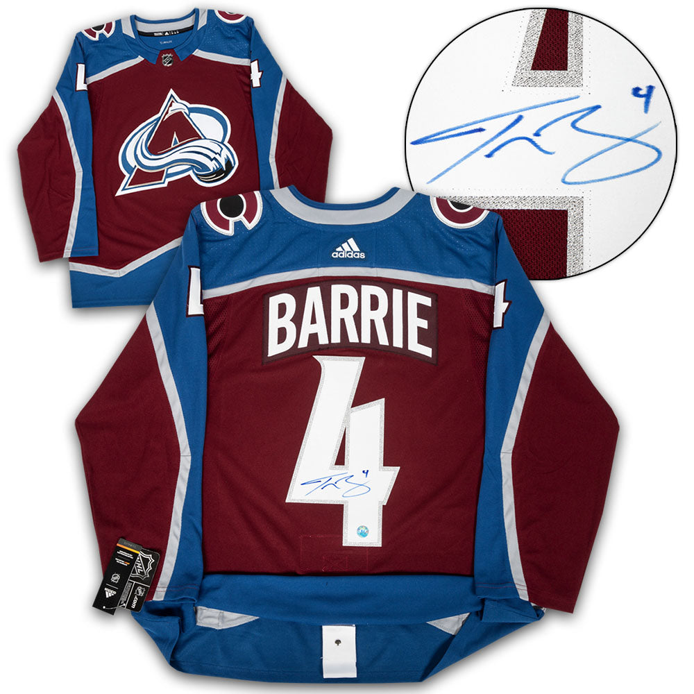 superior quality cf724 d1751 Tyson Barrie Colorado Avalanche Autographed Adidas Authentic Hockey Jersey