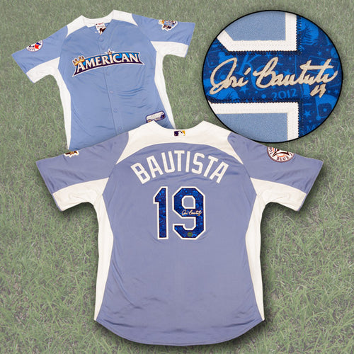 Jose Bautista Toronto Blue Jays Autographed 2012 AL Home Run Derby Jersey
