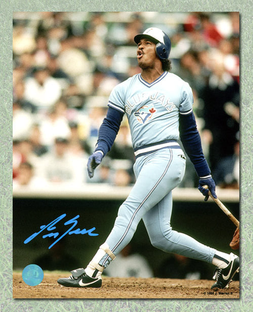 George Bell Toronto Blue Jays Autographed Powder Blue Batting 8x10 Photo