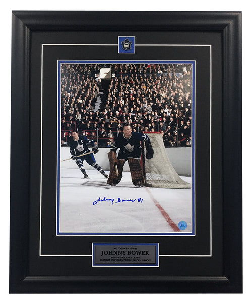 Johnny Bower Toronto Maple Leafs Autographed Maple Leaf Gardens 19x23 Frame