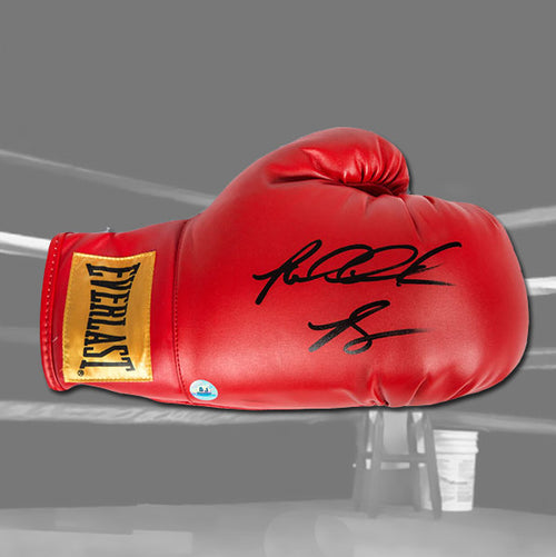 Riddick Bowe Autographed Everlast Red Boxing Glove