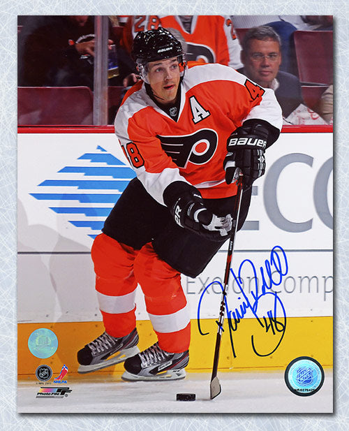 Daniel Briere Philadelphia Flyers Autographed Hockey Playmaker 8x10 Photo