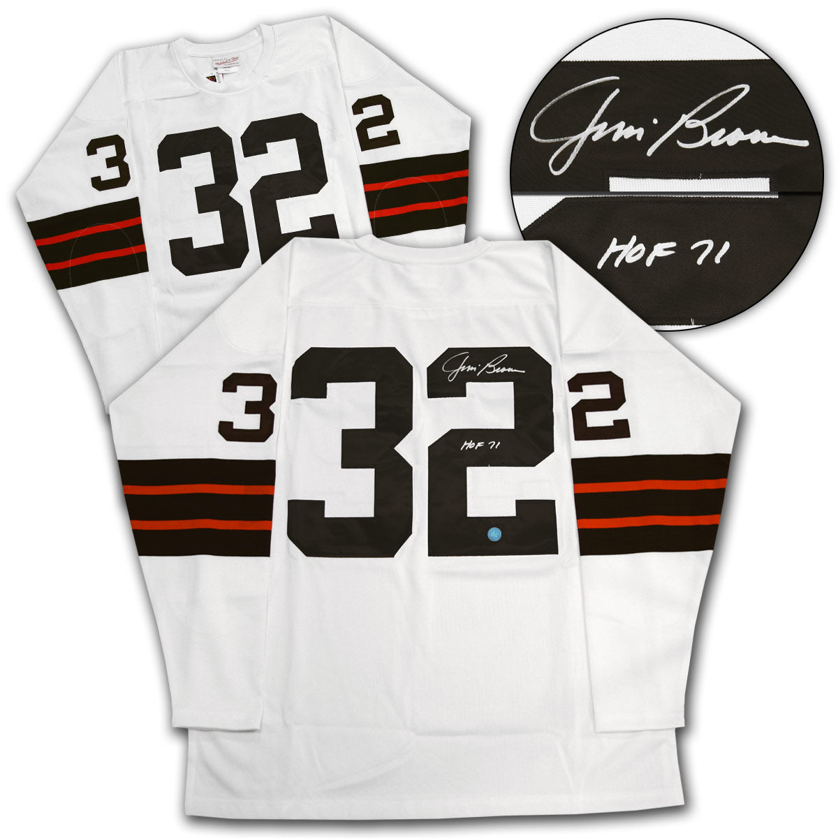 the best attitude 281ae abf56 Jim Brown Cleveland Browns Autographed Mitchell & Ness Football Jersey