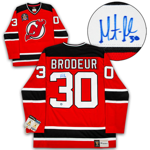 Martin Brodeur New Jersey Devils Signed 1995 Stanley Cup Fanatics Vintage Jersey